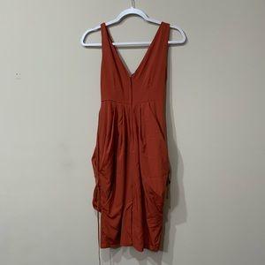 H&M burnt orange Greek dress